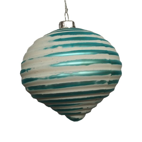 Turquoise Ribbed Glass Onion
