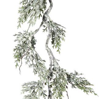 Snowy Cedar Garland - 180cm