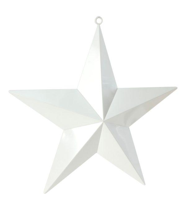 Large Shiny Stars - White