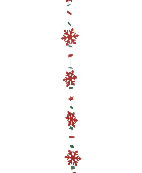 WIRED FELT SNOWFLAKE GARLAND - 200cm x 5cm