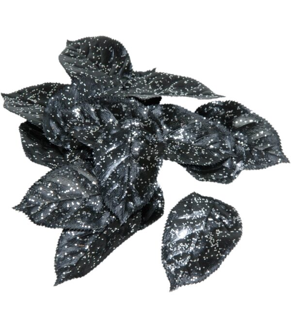 Glittered Silver Leaves