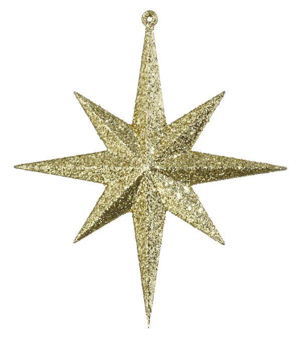 Glitter Star 8 Point 20cm x 17cm