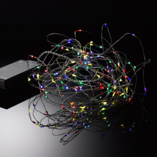Micro LED Battery Lights on Silver Wire
