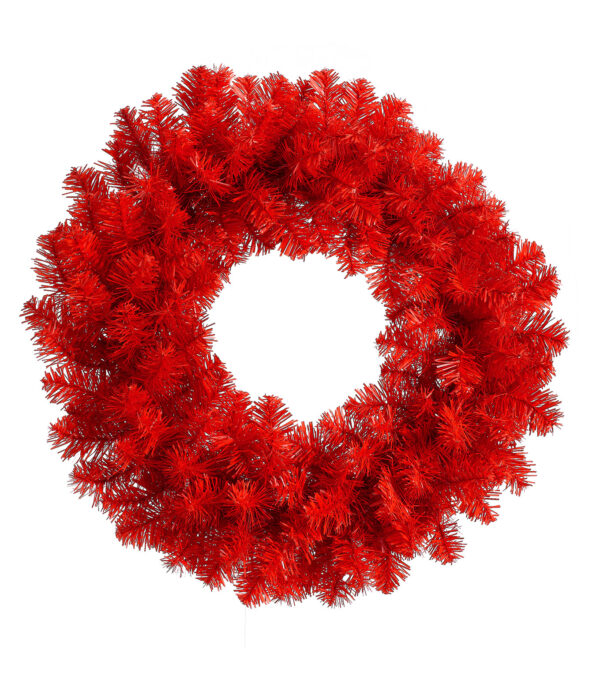 RED PINE WREATH - 60cm diameter - Red
