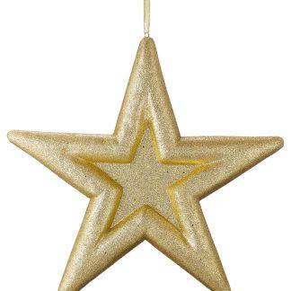 Glittered Embossed Star