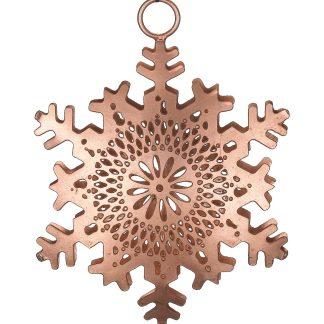 Pierced Metal Snowflakes