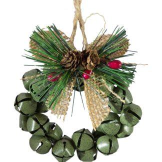 Metal Bell Wreath - set of 3
