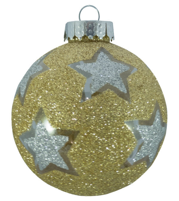Star Glitter Pattern Baubles