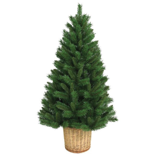 4.5ft Christmas Tree with Stand & Basket