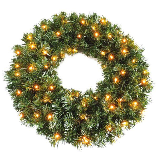 Pre Lit Sable Fir Wreath