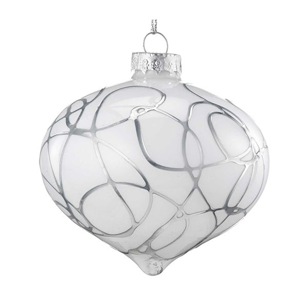 silver squiggle onion bauble
