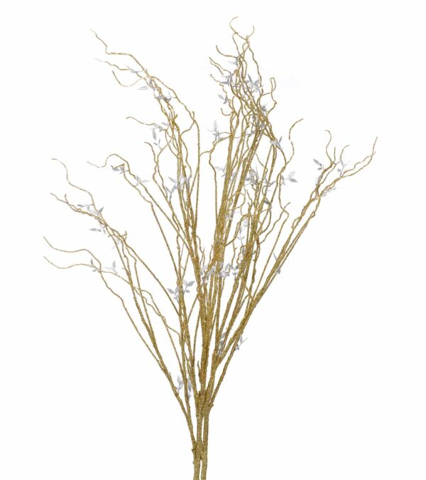 gold glittered branches decoration