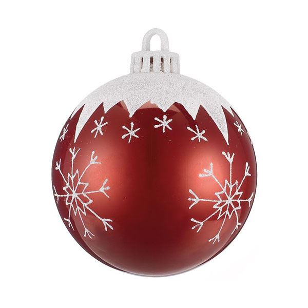 bauble with snowflakes