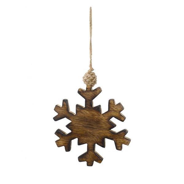wooden snowflake hanging decoration