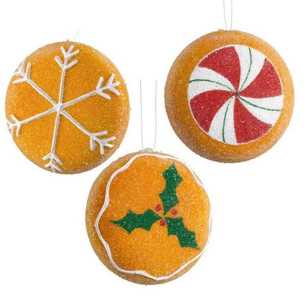 trio of cookie decorations