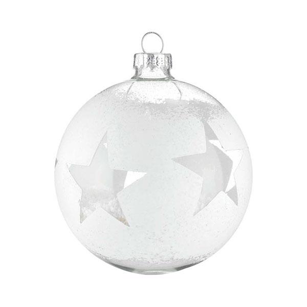 white distressed glass star