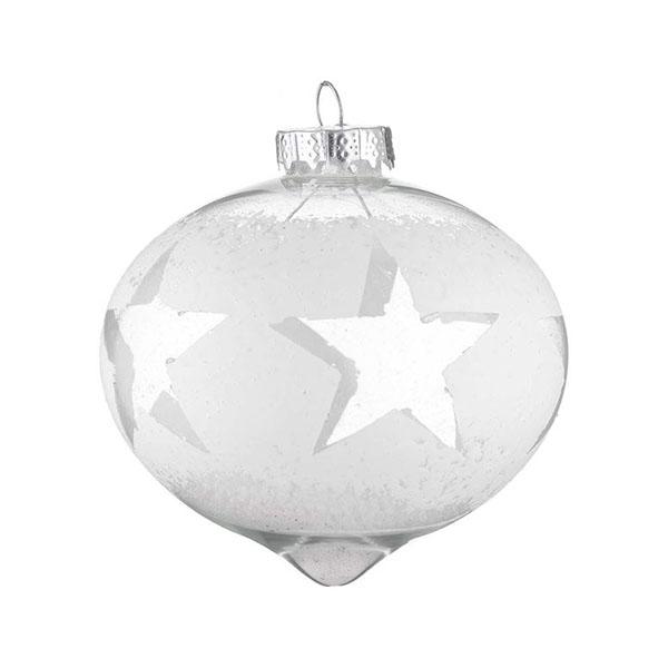 white distressed glass star onion