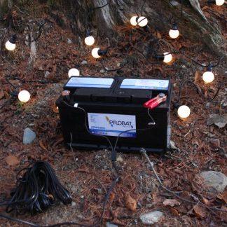 Festoon Lights with Lead for 12V Battery