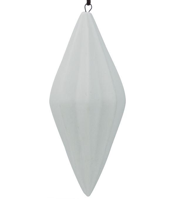 Ceramic Diamond Drop - 120mm - White - Pack of 12