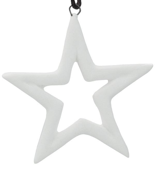 Ceramic Star - 65mm - White - Pack of 12