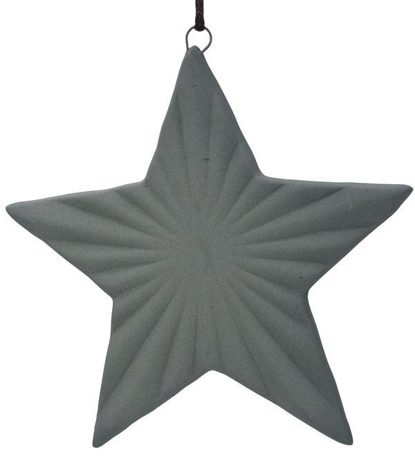 Ceramic Ridged Star - 105mm - Grey - Pack of 12