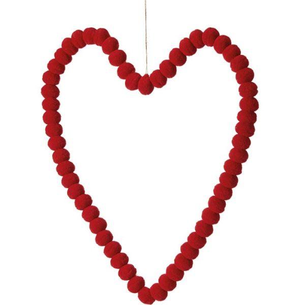 Pom Pom Heart 40cm