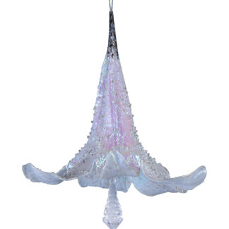 Glittered Beaded Lily 18cm