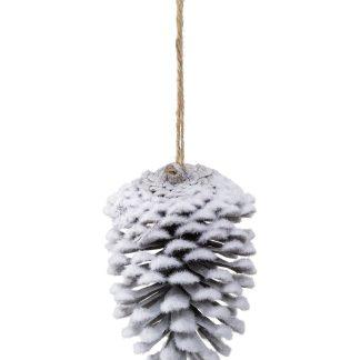 Flocked Pine Cones