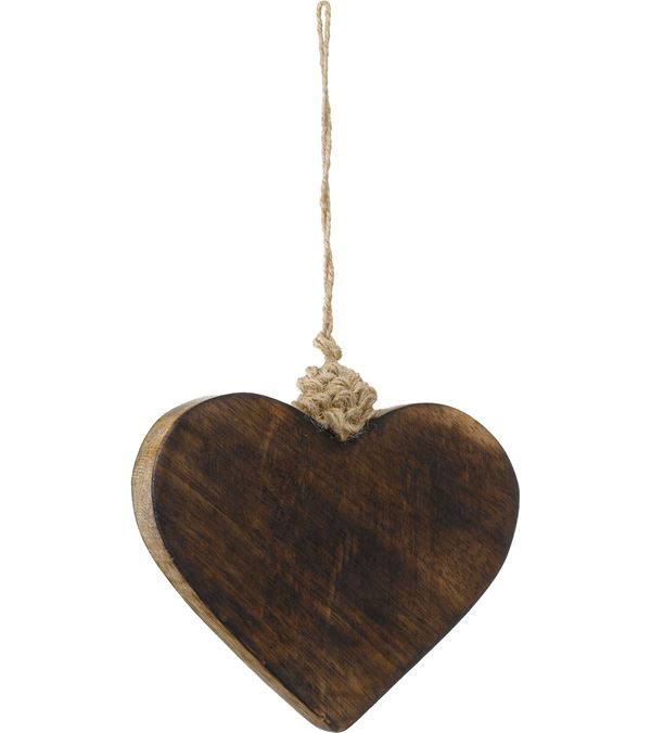 Wooden Heart - 8cm High x 10cm Wide - Pack of 3 - Natural (16083)