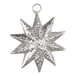 Pierced Metal Stars - Silver