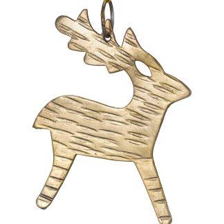 Hammered Metal Reindeer Decoration