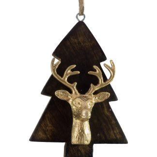 Wooden Tree with Deer Head