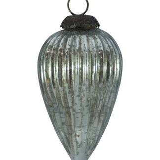 GLASS PINE CONE BAUBLE