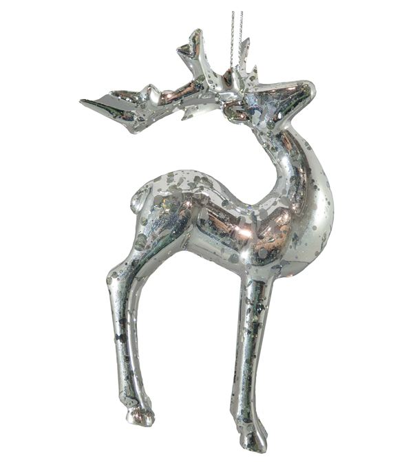 Standing Silver Deer - 13cm x 15.5cm - Silver (16308) - Pack of 2