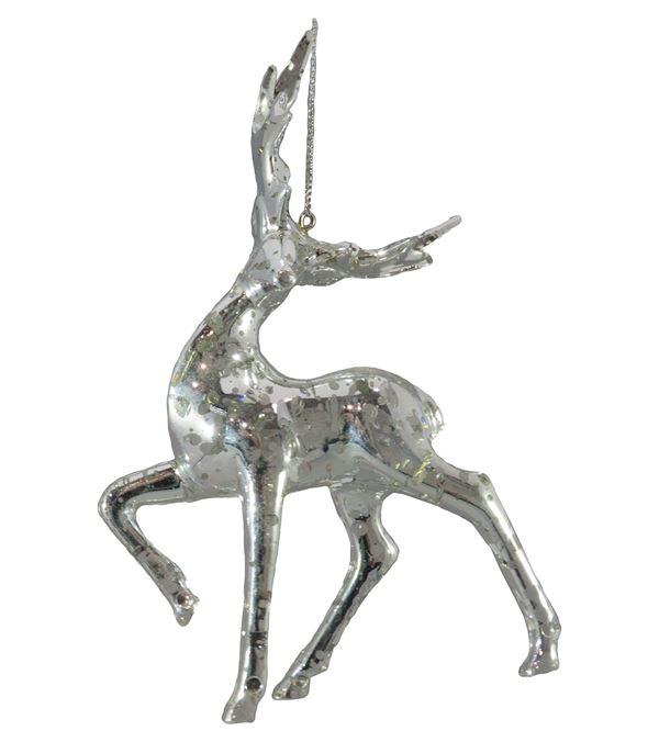 Trotting Silver Deer - 13cm x 15.5cm - Silver (16308) - Pack of 2