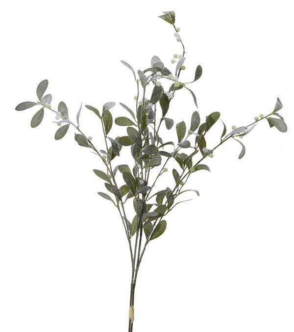 Flocked Mistletoe Spray - 96cm - Green - Pack of 2