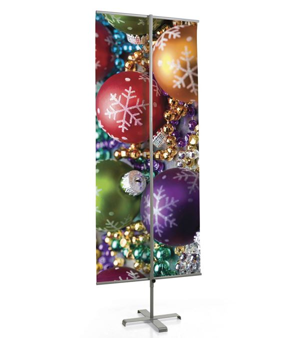 Banner Stand - 200cm Tall x 78cm Wide - Silver