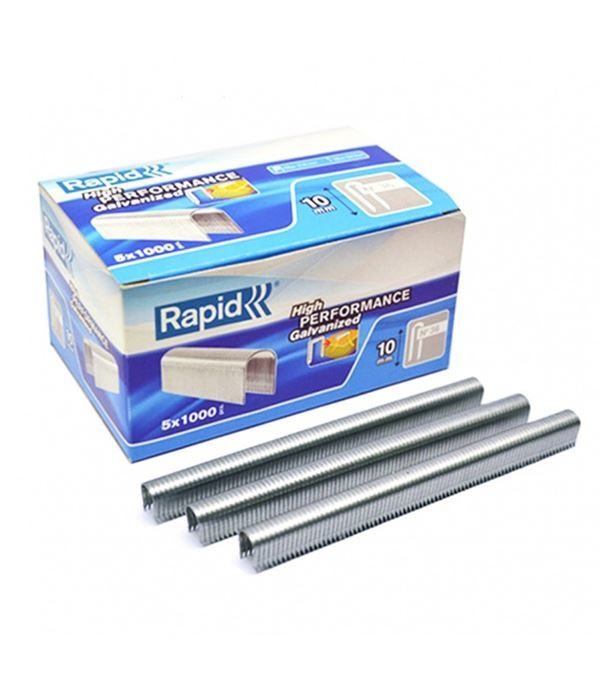 Rapid No 36 Cable Staples - 11mm Leg Length - Silver - Pack of 5 Boxes of 1000