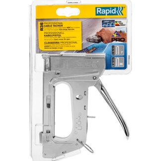 Rapid Pro R36 Cable Staple Gun - 13.2 x 2.6 x 28 cm - Silver - Sold Individually
