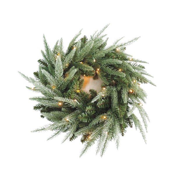 Pre Lit Double Sided Wreath 60cm