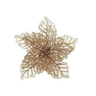 Glittered Wire Poinsettia