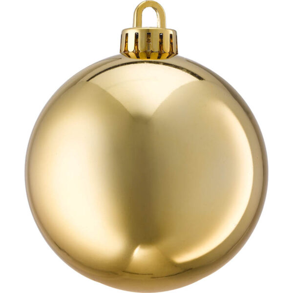 250mm shiny gold Christmas bauble