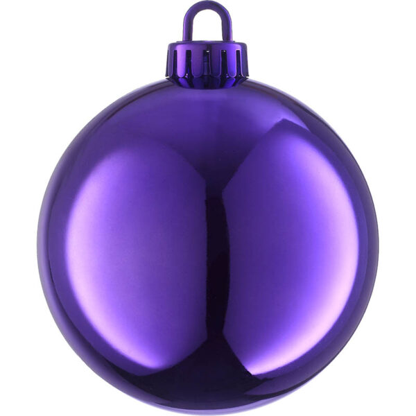 250mm shiny royal purple Christmas bauble