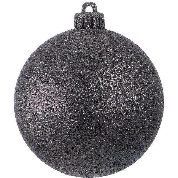 black glitter bauble