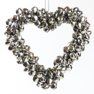 Metal Heart Bell Wreath