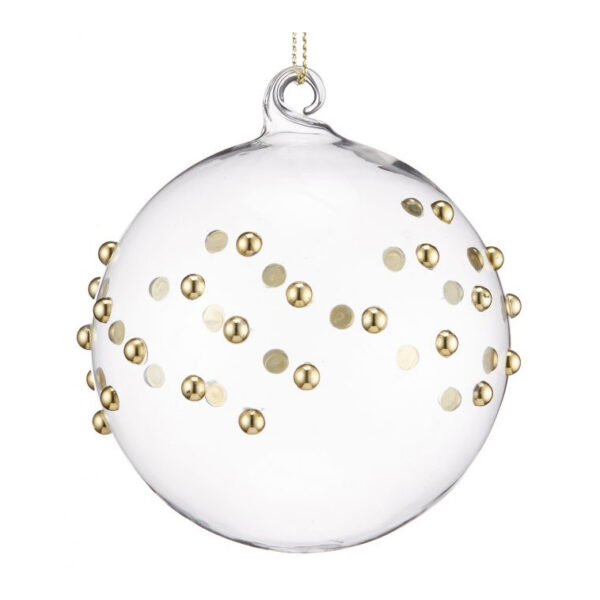 gold beaded glass bauble