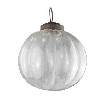 clear glass segment baubles