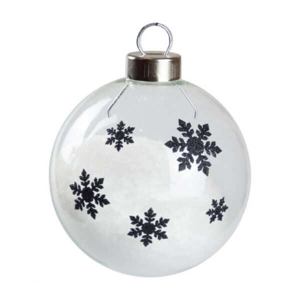 Snowflake Silhouette Baubles