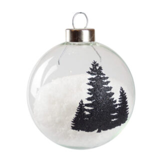 silhouette tree bauble
