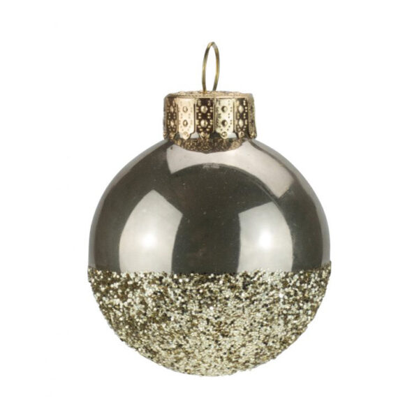 gold glitter dipped bauble